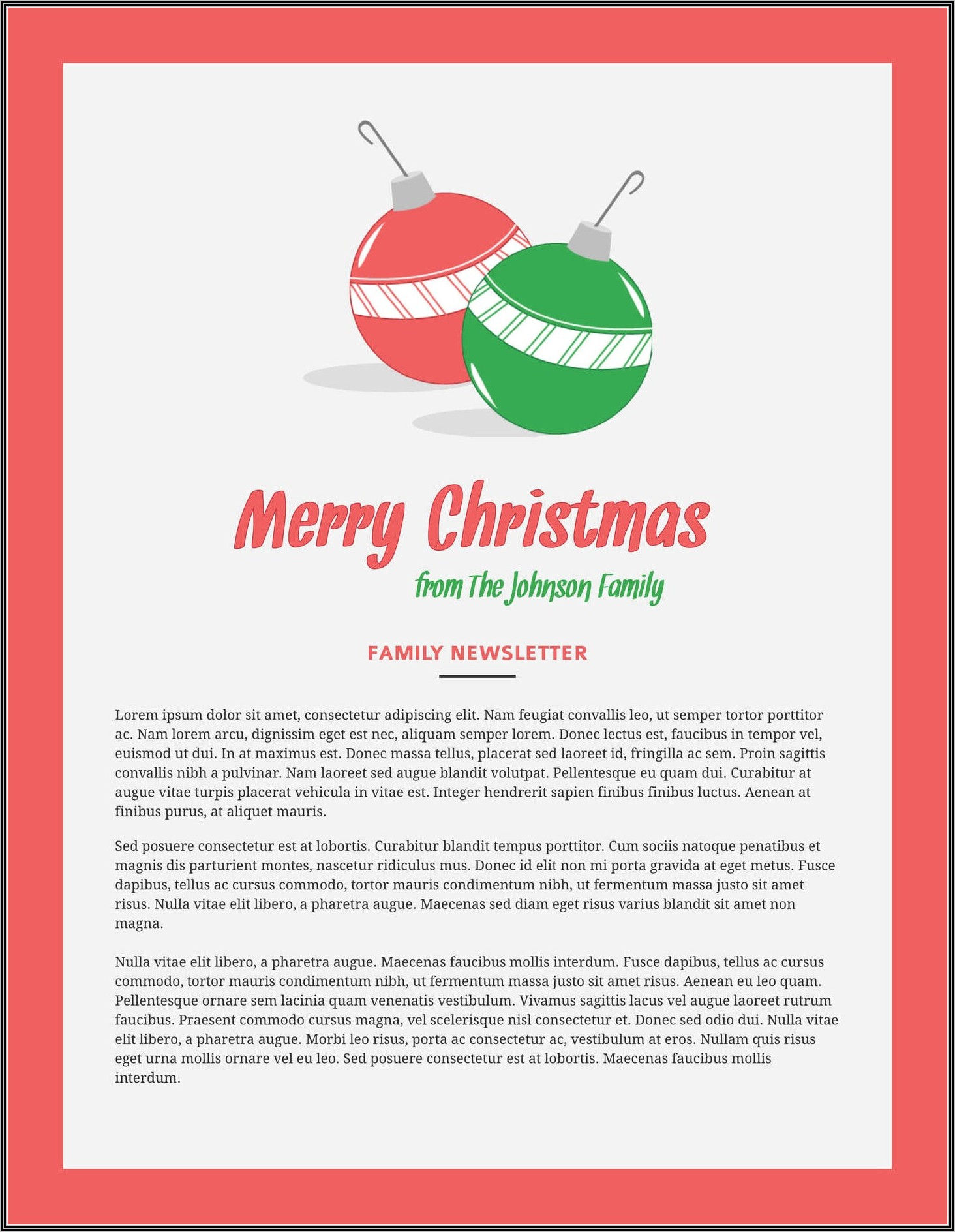Christmas Newsletter Template Pages Mac