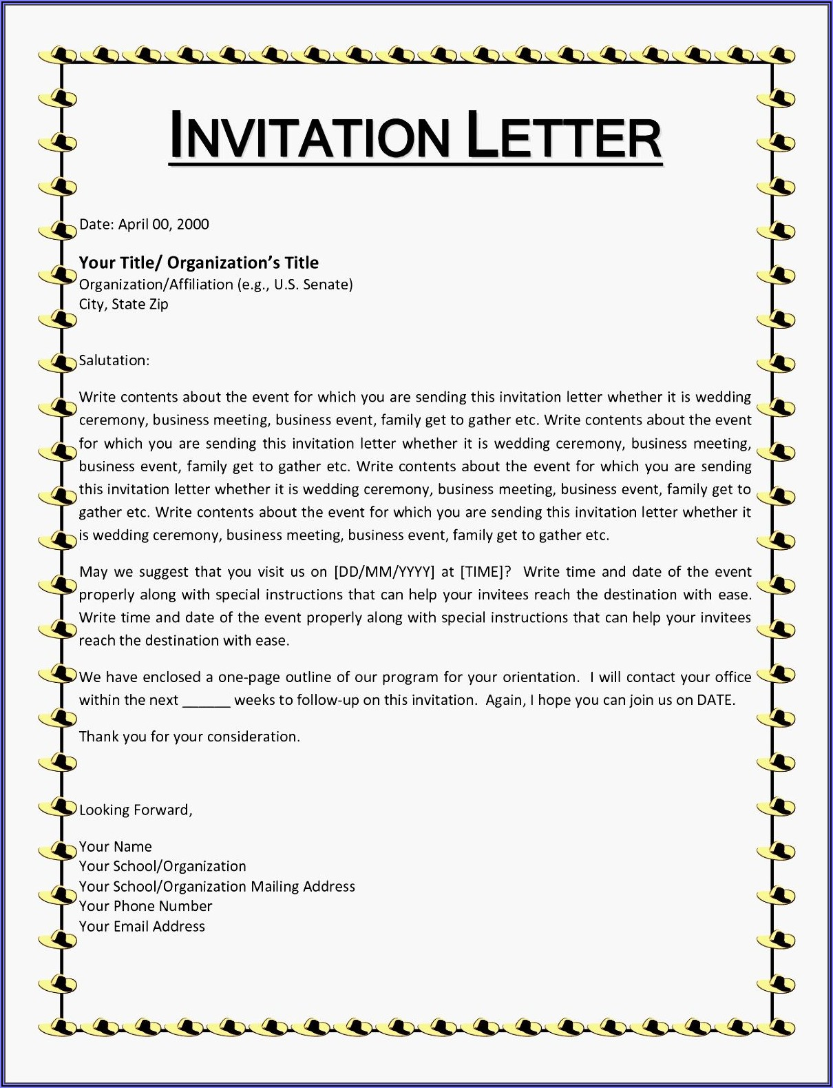 Christmas Party Invitation Letter Examples