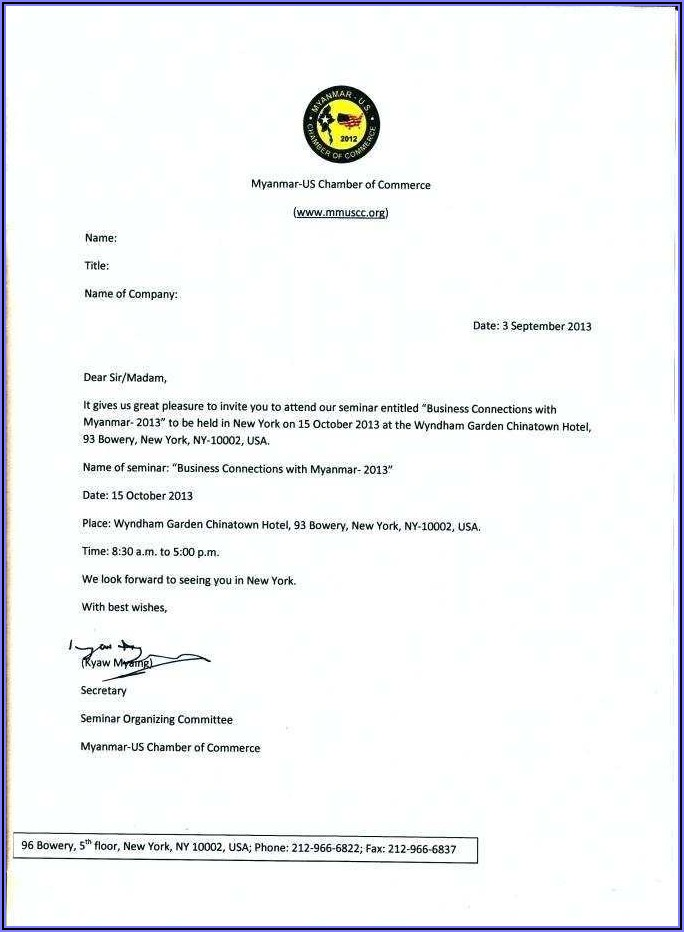 Christmas Party Invitation Letter Format