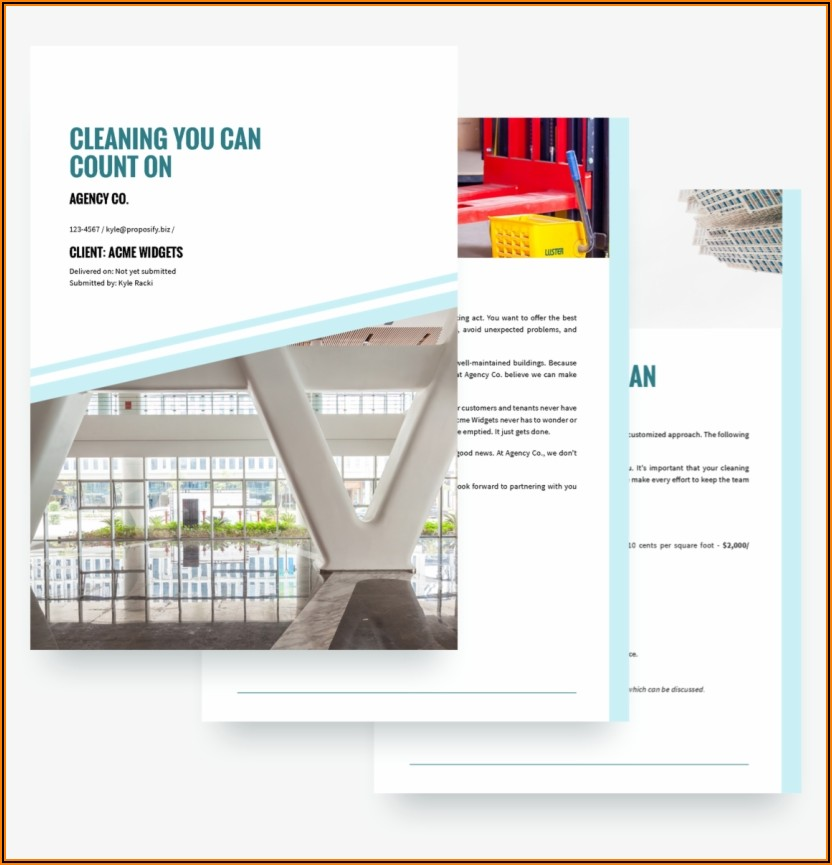 Cleaning Services Proposal Template Free