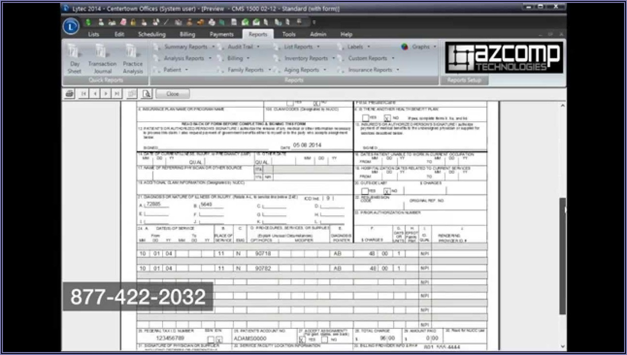 Cms 1500 Claim Form Boxes