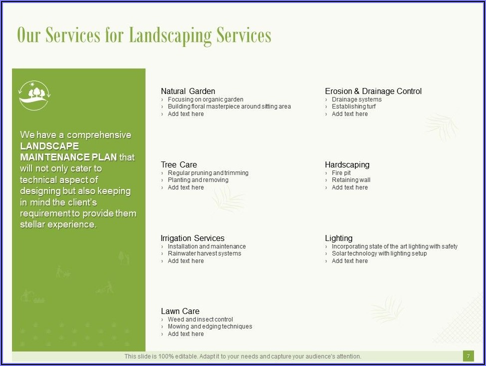 Commercial Lawn Care Proposal Template