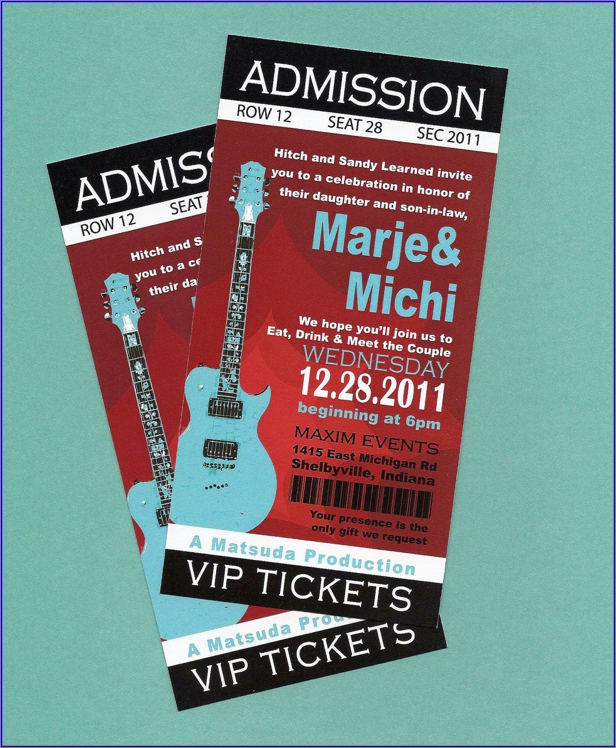 Concert Ticket Birthday Invitation Template