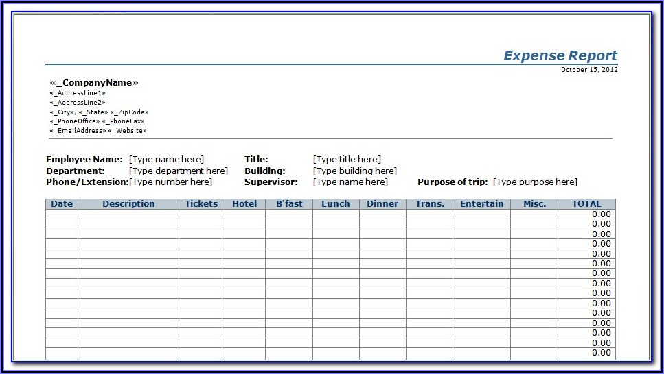 Construction Cost Control Excel Template