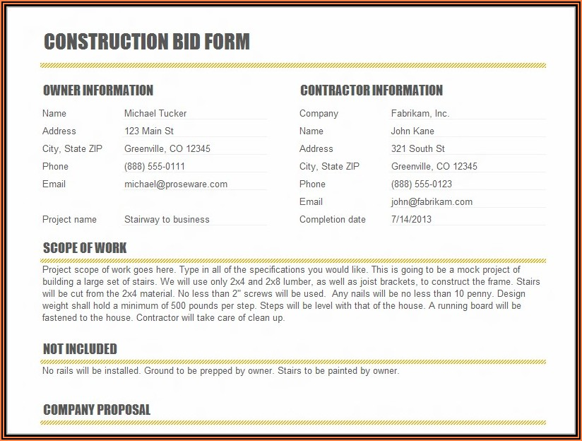 Construction Draw Request Template Excel