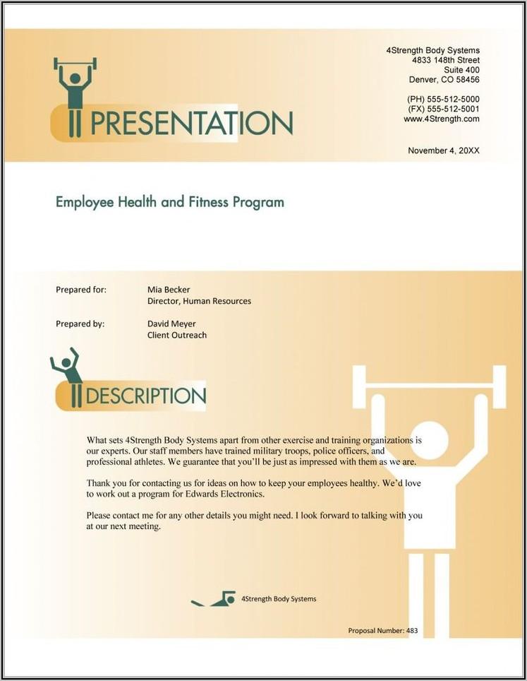 Corporate Wellness Proposal Template