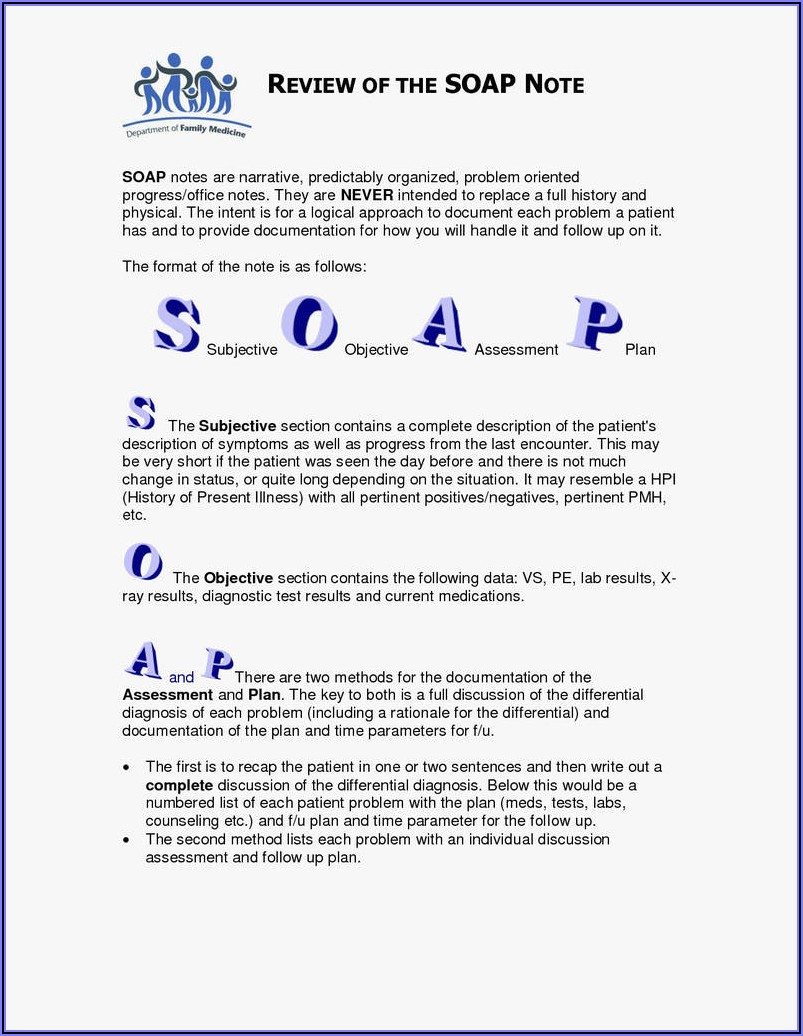Counseling Soap Note Example