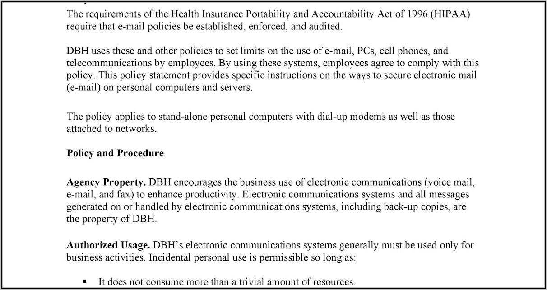 Cyber Security Procedures Template