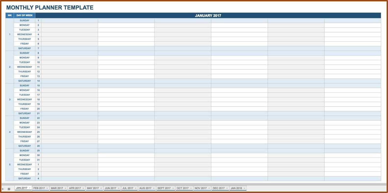 Daily Planner Google Sheets Template