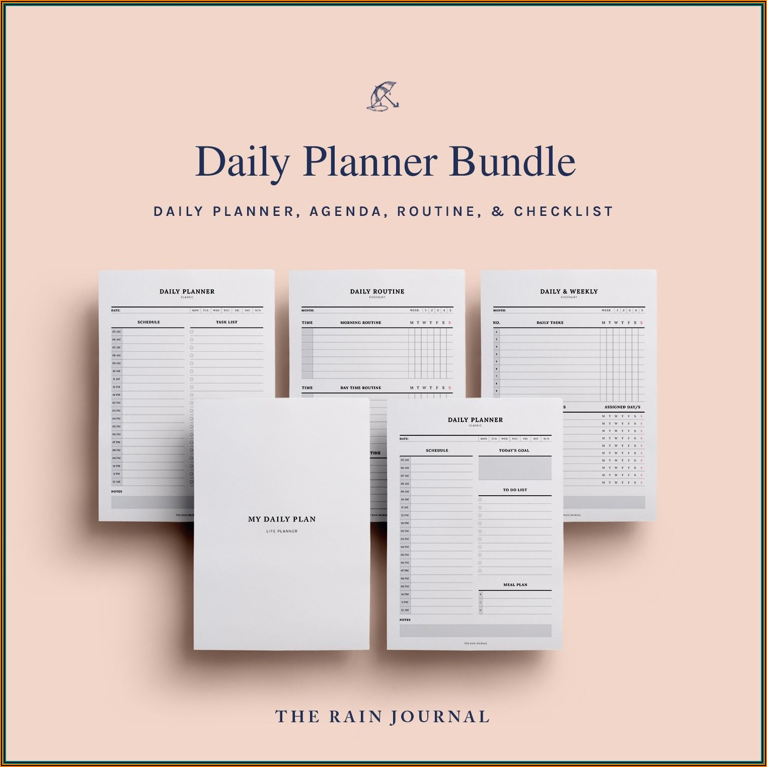 Daily Planner Template For Mac Pages