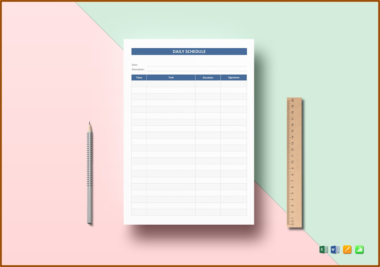 Daily Schedule Pages Template