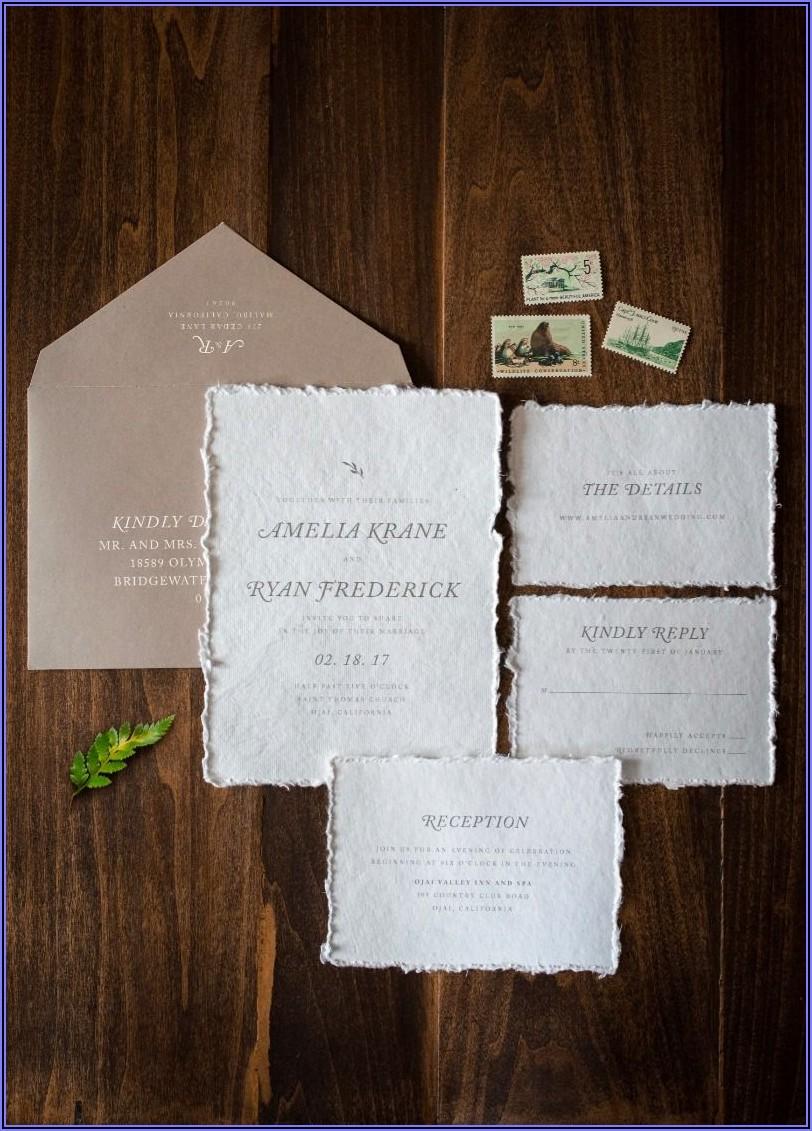 Deckle Edge Paper Wedding Invitations