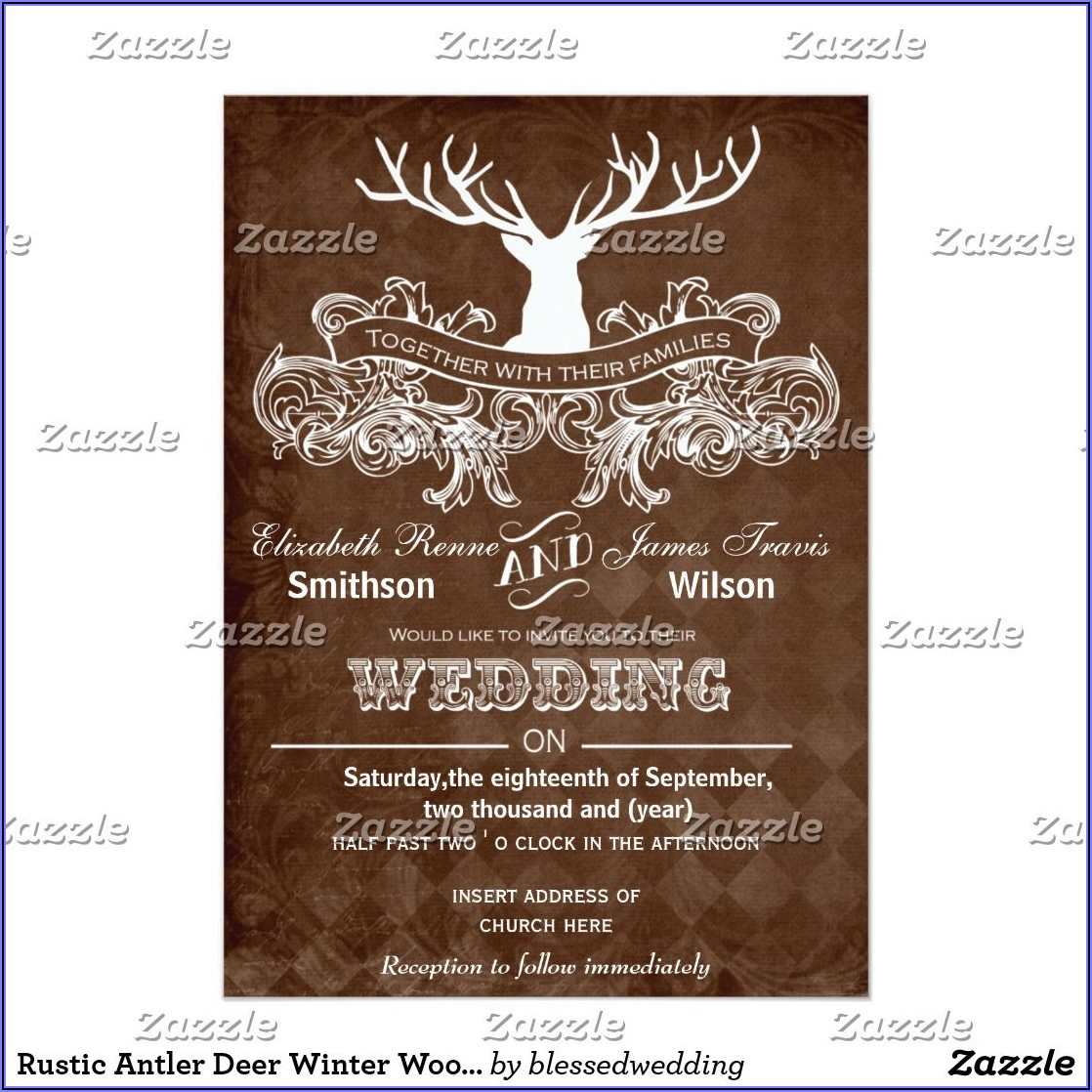 Deer Antler Wedding Invitations