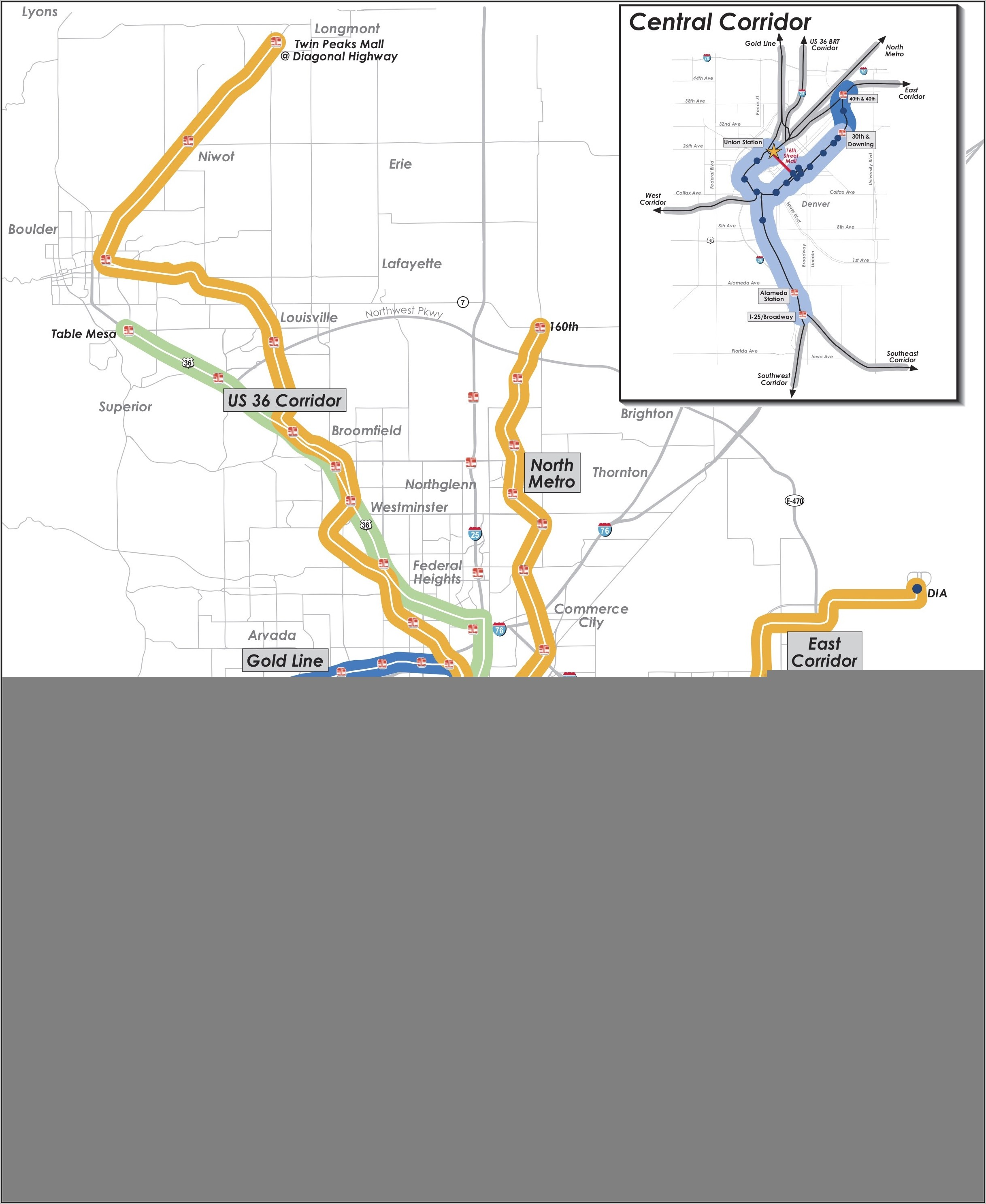 Denver Rtd Map With Streets