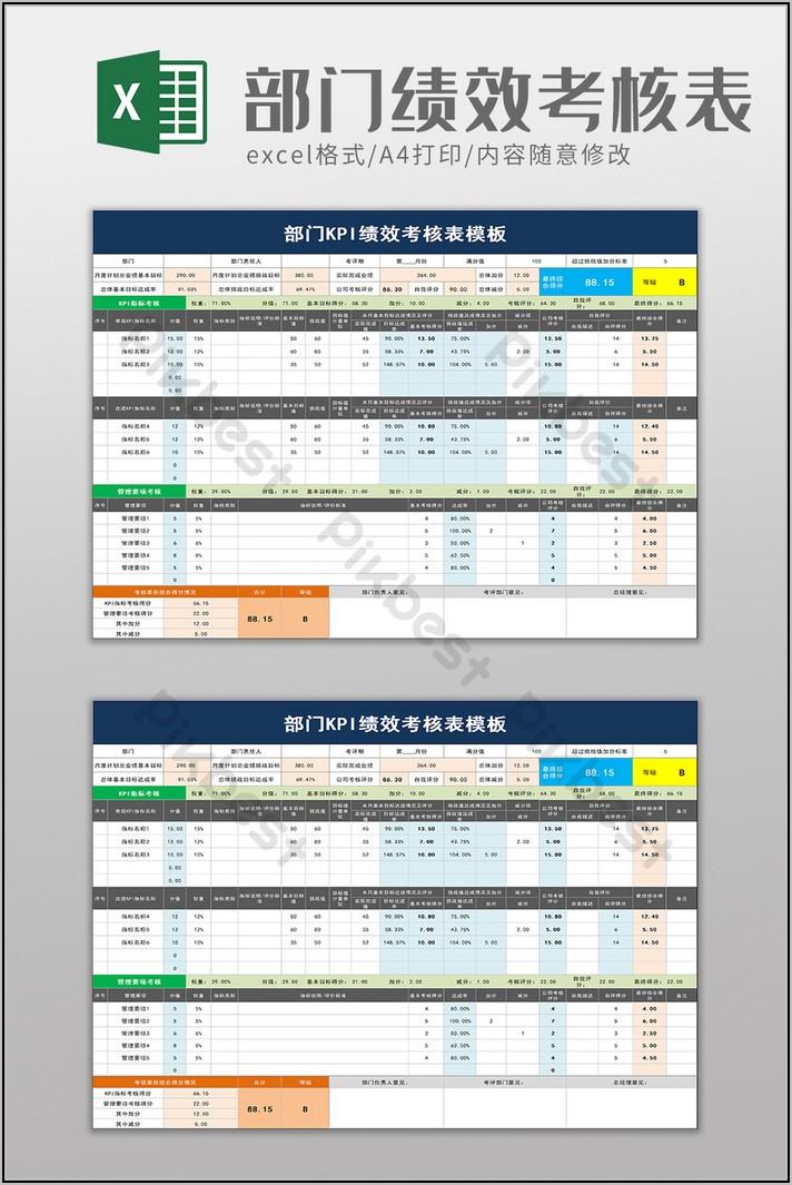 Department Kpi Template Excel