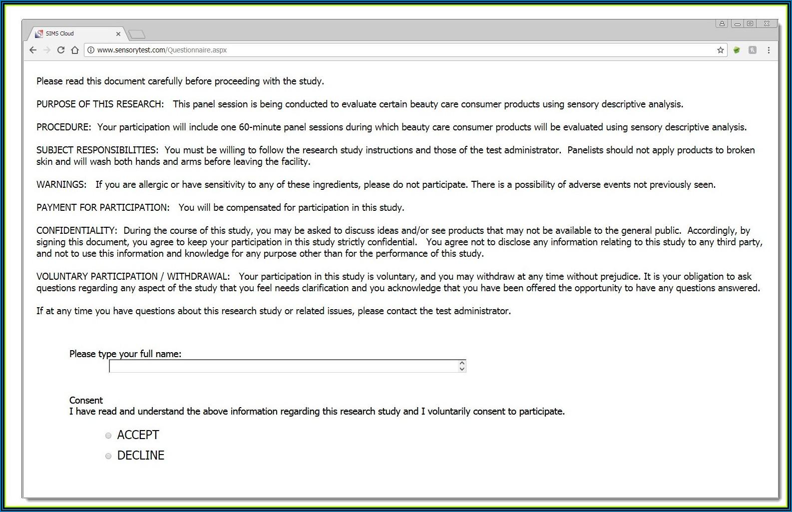 Digital Signature Approval Form