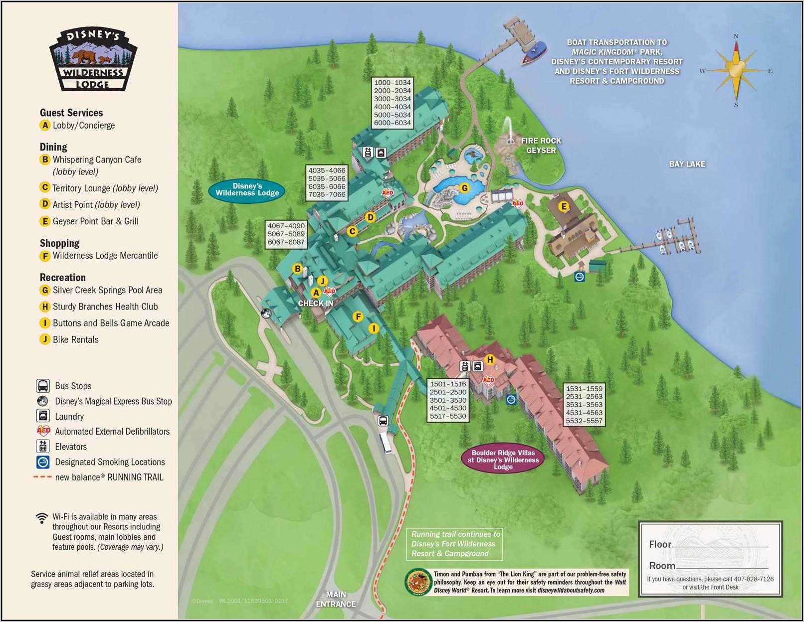 Disney Saratoga Springs Map 2018