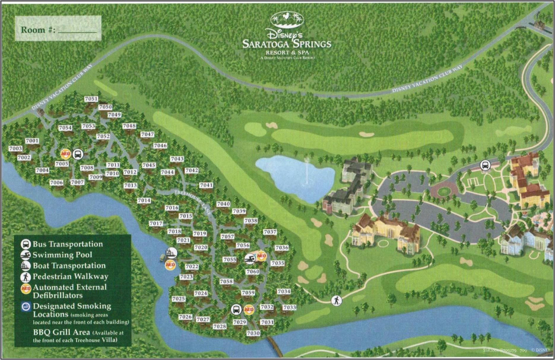 Disney Saratoga Springs Resort Layout