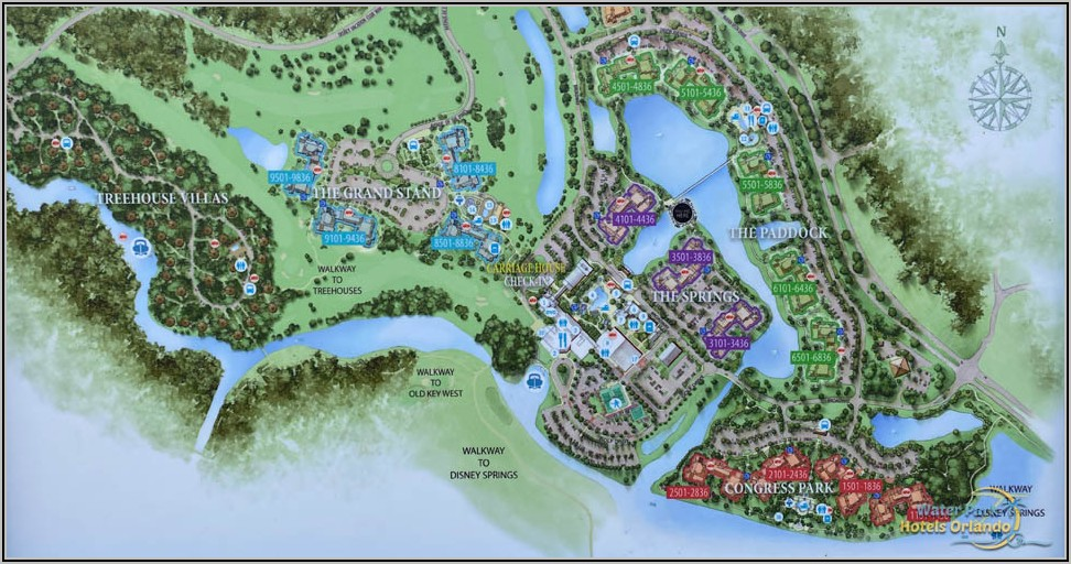 Disney Saratoga Springs Resort Map
