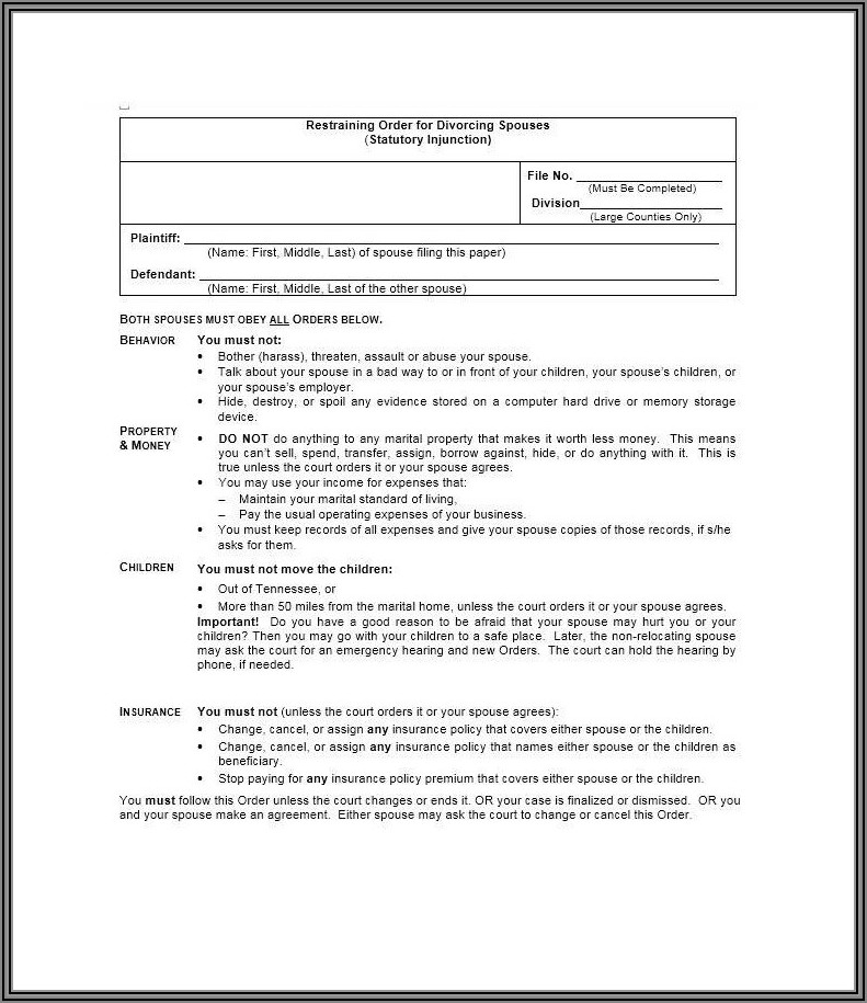 Divorce Papers Texas Form