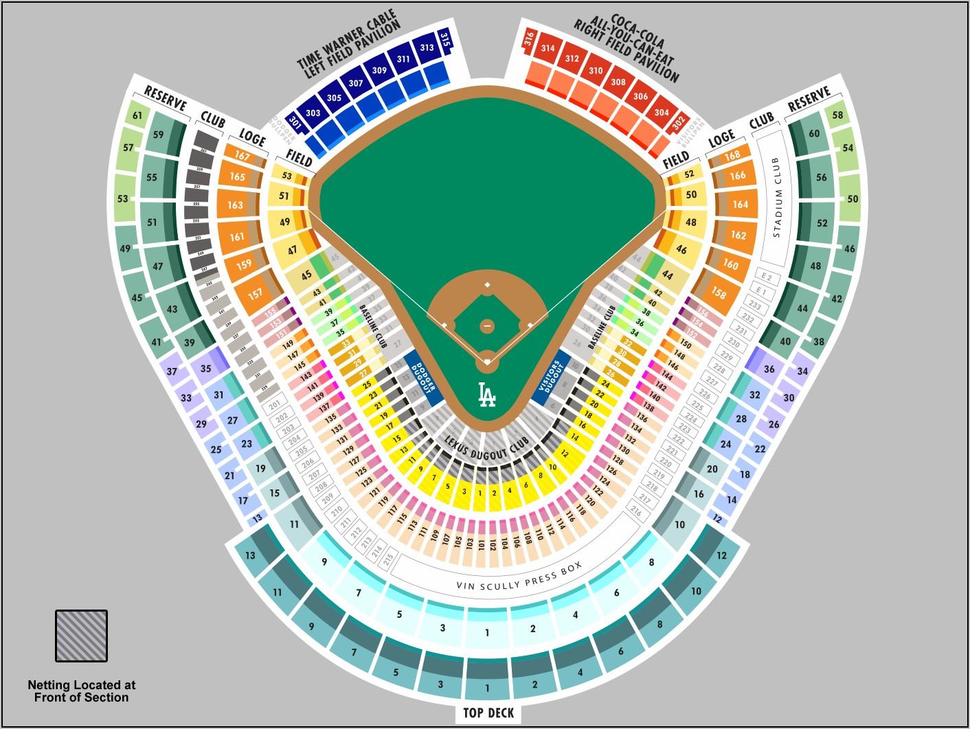 Dodger Stadium Seating Layout