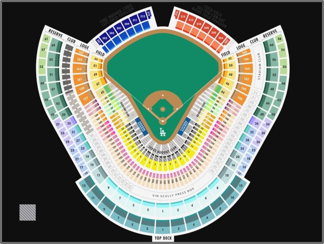 Dodger Stadium Seating Map Concert