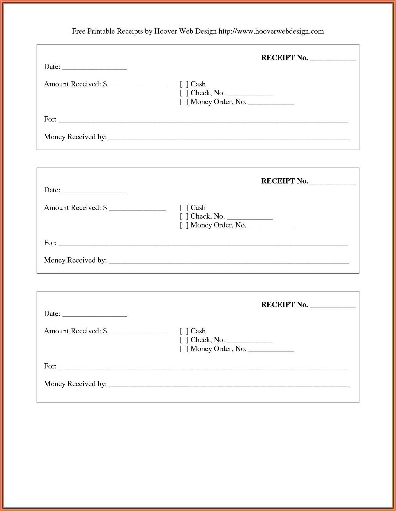 Download Printable Receipt Forms For Free