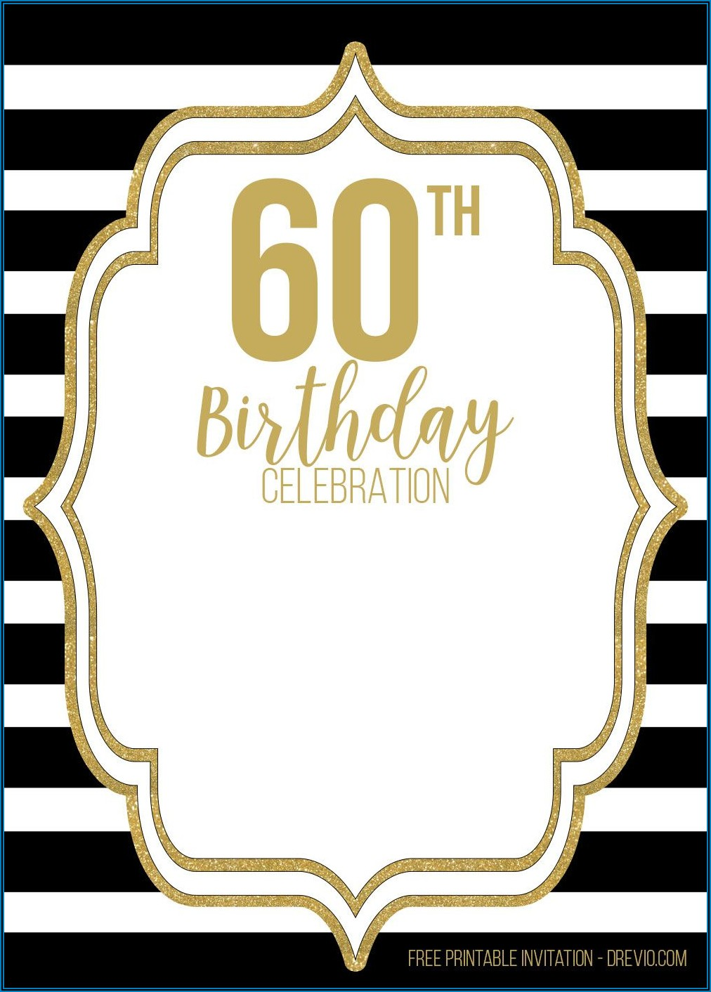 Downloadable 60th Birthday Invitation Templates