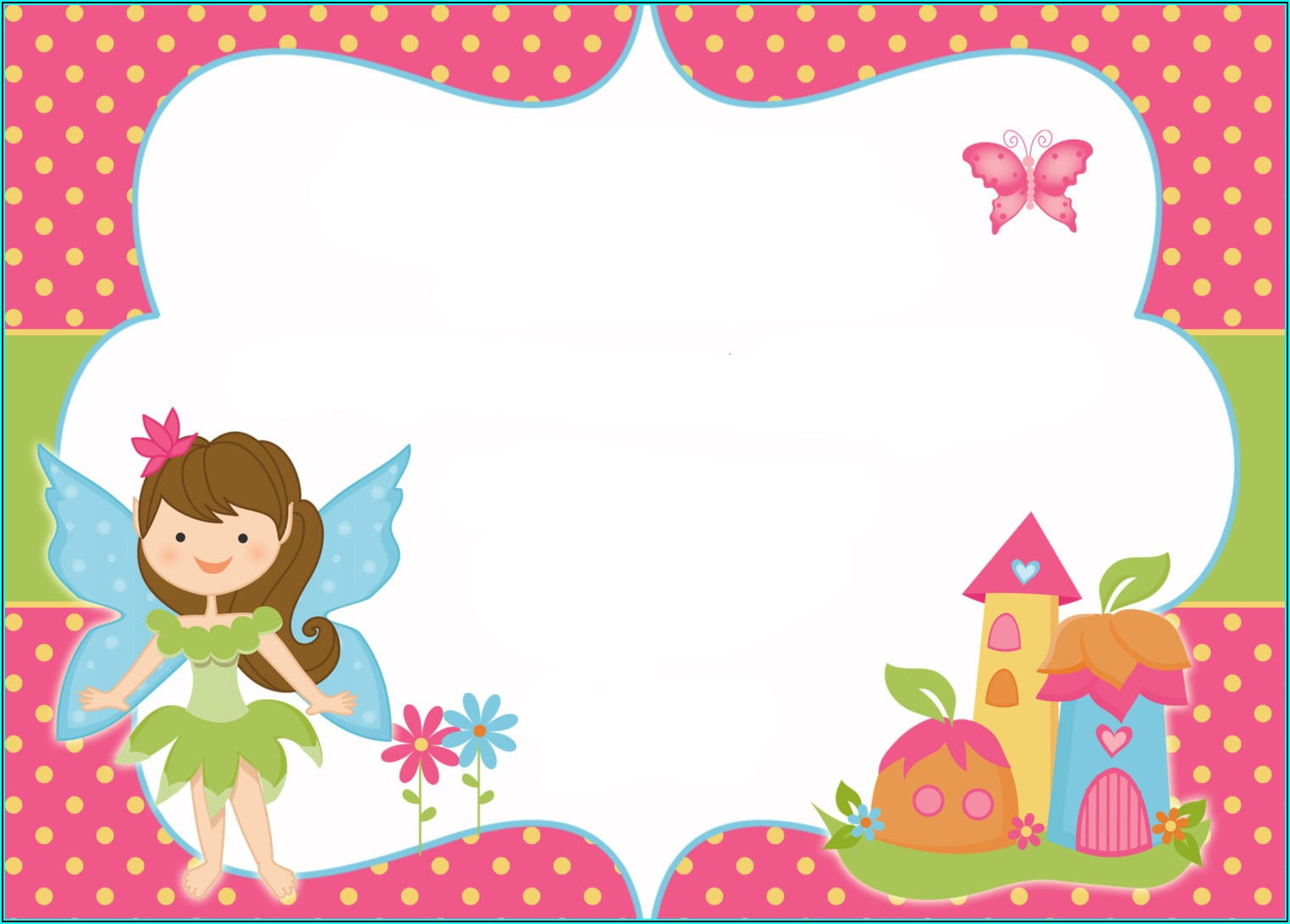 Downloadable Fairy Birthday Invitation Templates Free