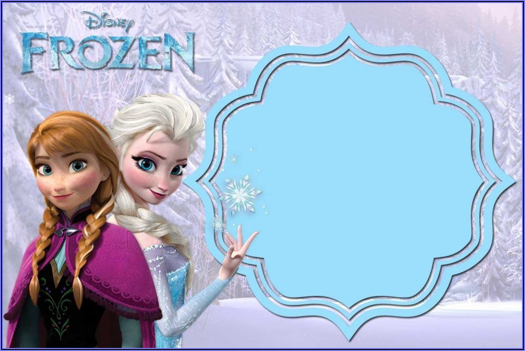Downloadable Frozen 2 Invitation Template