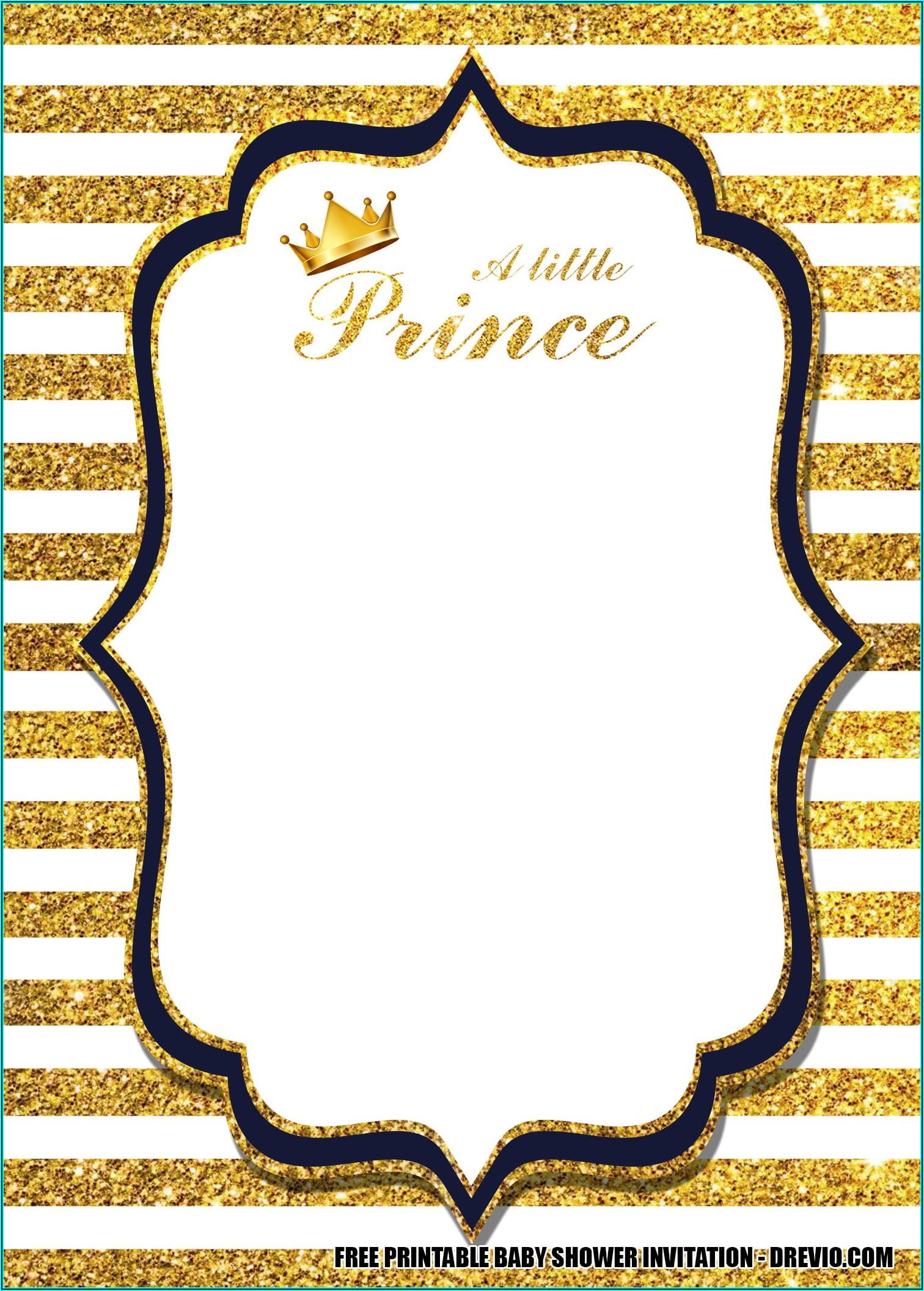 Downloadable Royal Prince Birthday Invitation Template Free