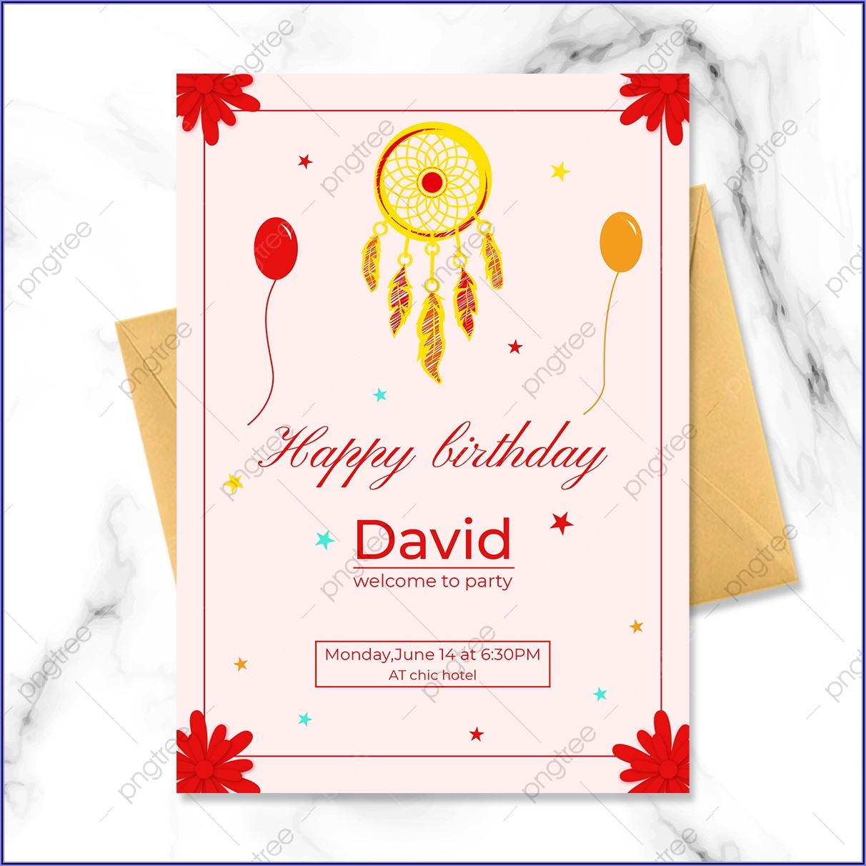 Dream Catcher Birthday Invitation Template