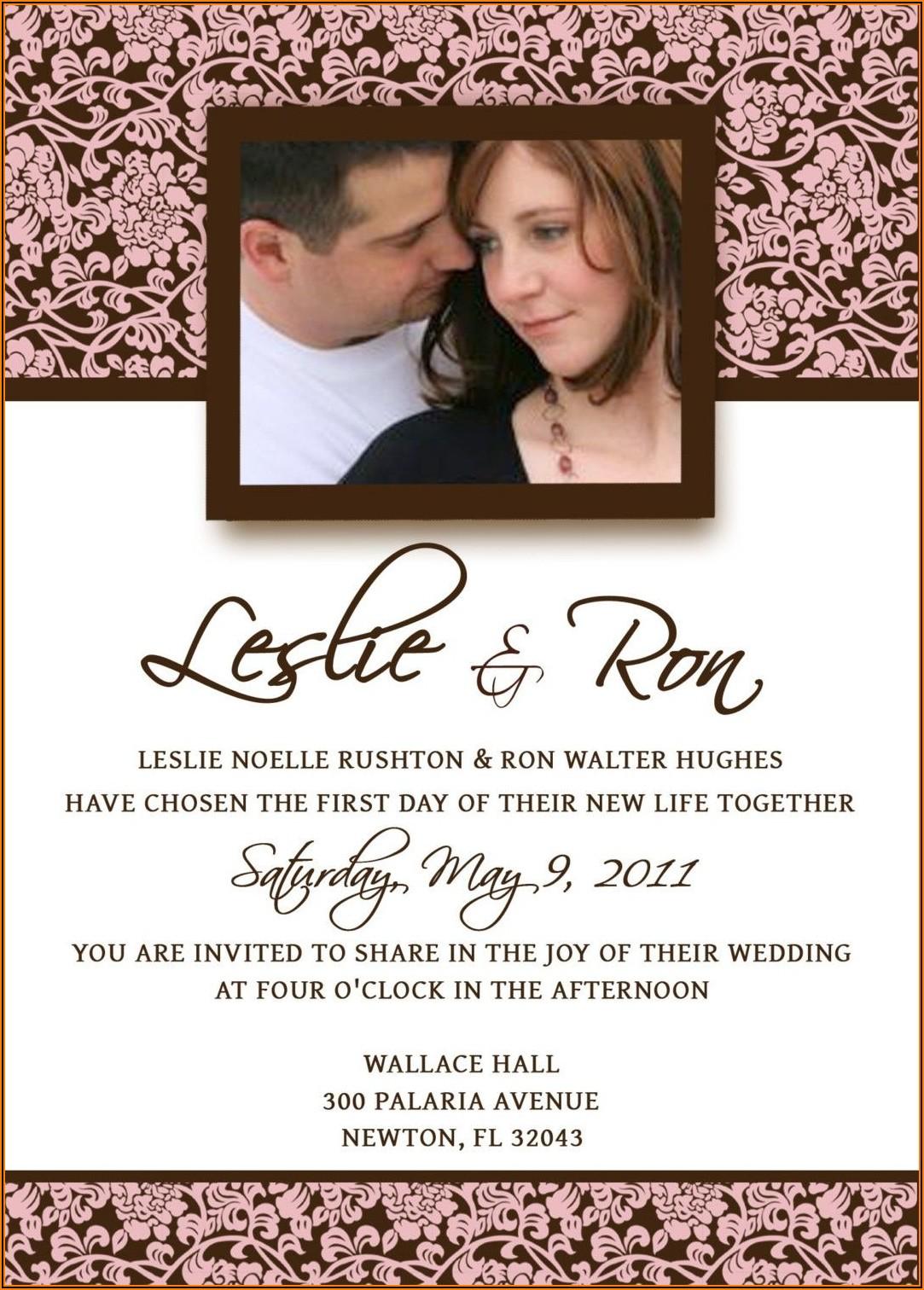 E Wedding Invitation Cards Templates Free Download