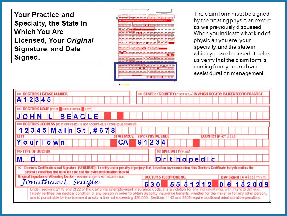 Edd Disability Continued Claim Form Online