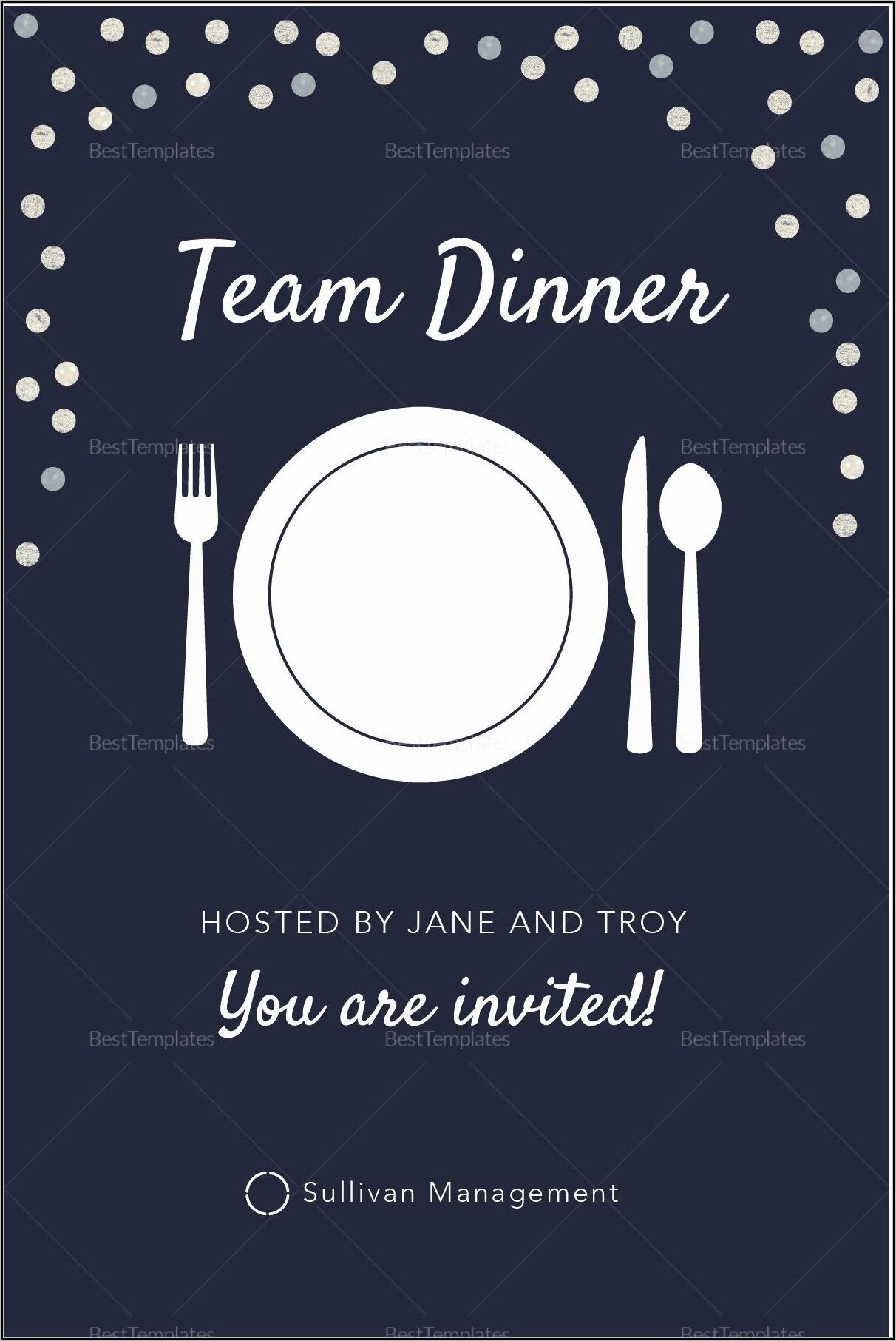 Elegant Dinner Invitation Template