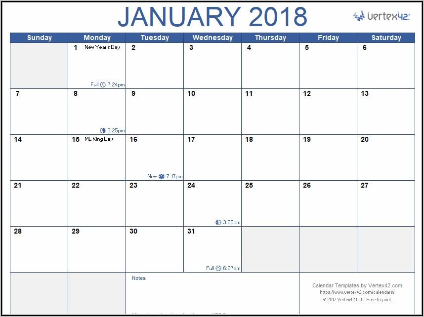 Employee Vacation Calendar Template 2020