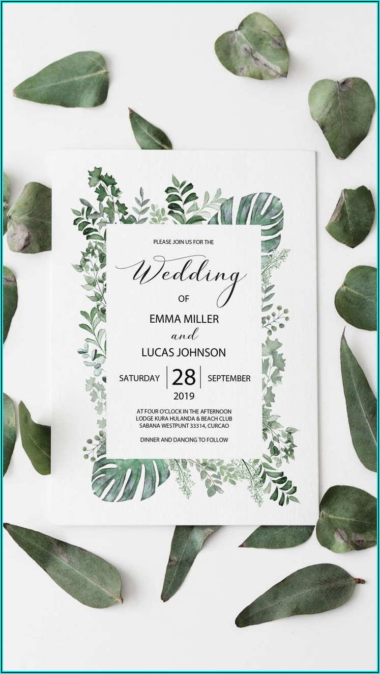 Enchanted Forest Wedding Invitation Template