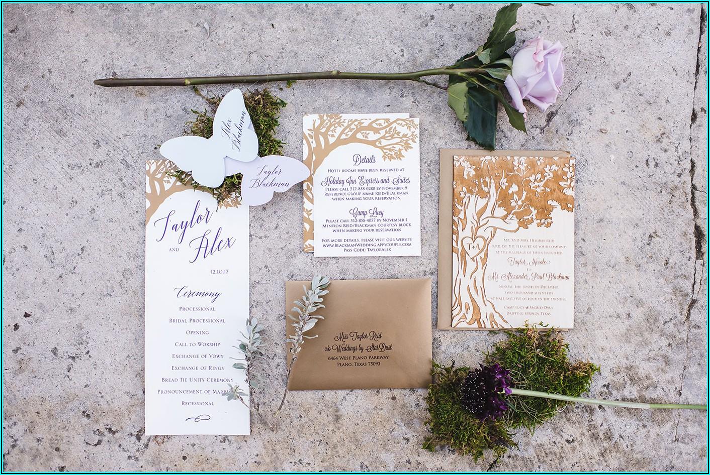 Enchanted Forest Wedding Invitation Theme