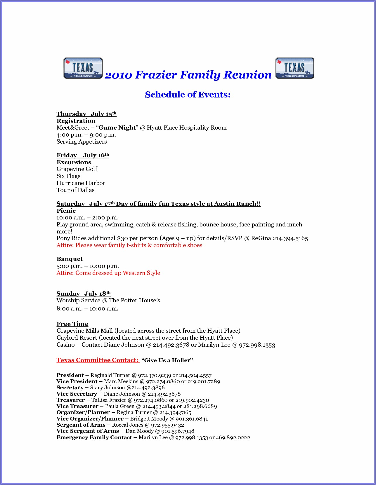 Example Of Family Reunion Invitation Letter