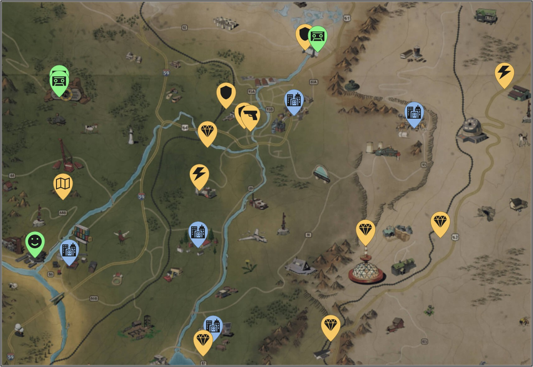 Fallout 76 Interactive Maps