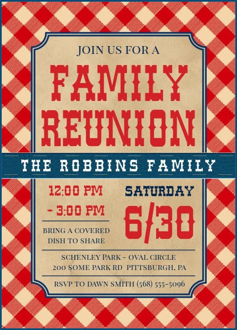 Family Bbq Invitation Template