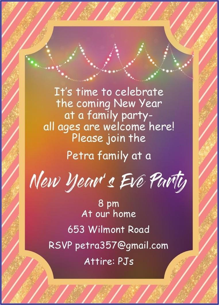Family Gathering Invitations Sample