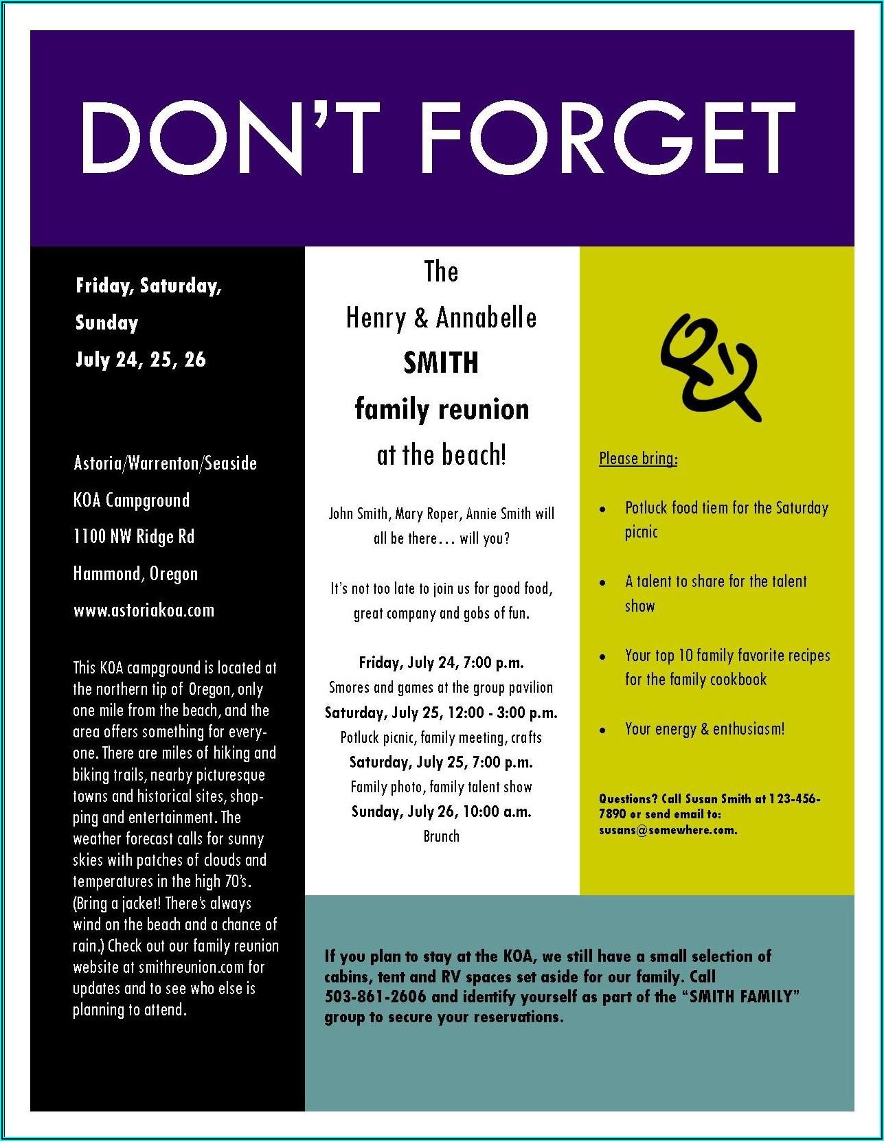 Family Meeting Invitation Sample