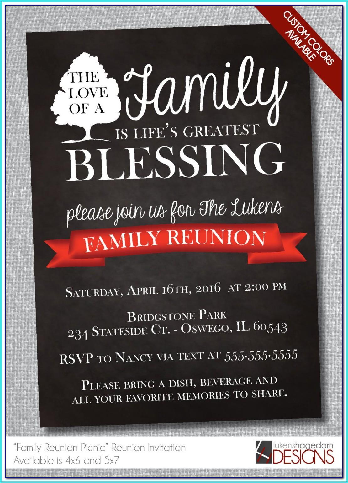 Family Reunion Invitation Wording Ideas