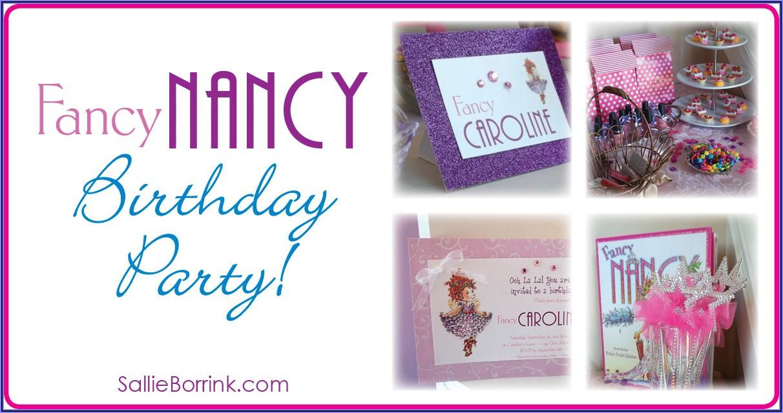 Fancy Nancy Birthday Invitation Template