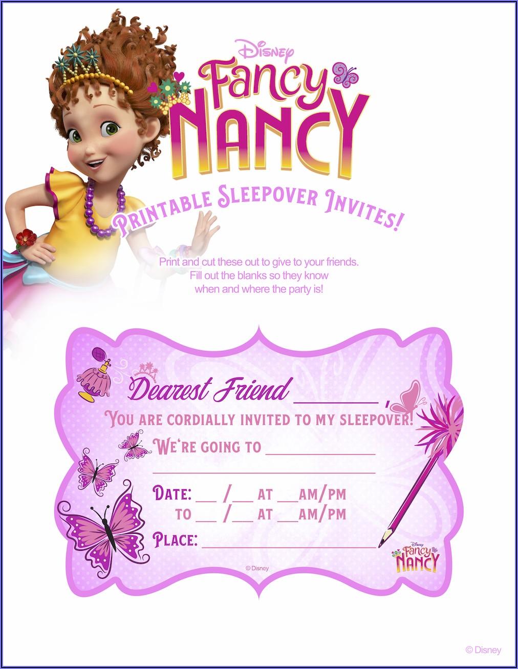 Fancy Nancy Party Invitations Templates