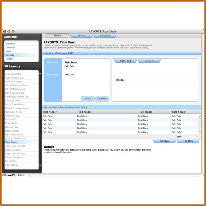 Filemaker Pro Templates Library