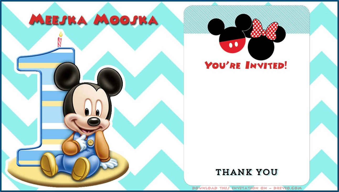 First Birthday Invitation Card Design Blank