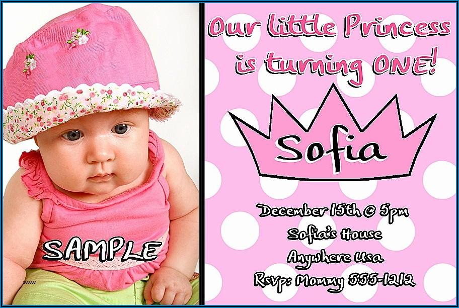 First Birthday Invitation Cards Designs