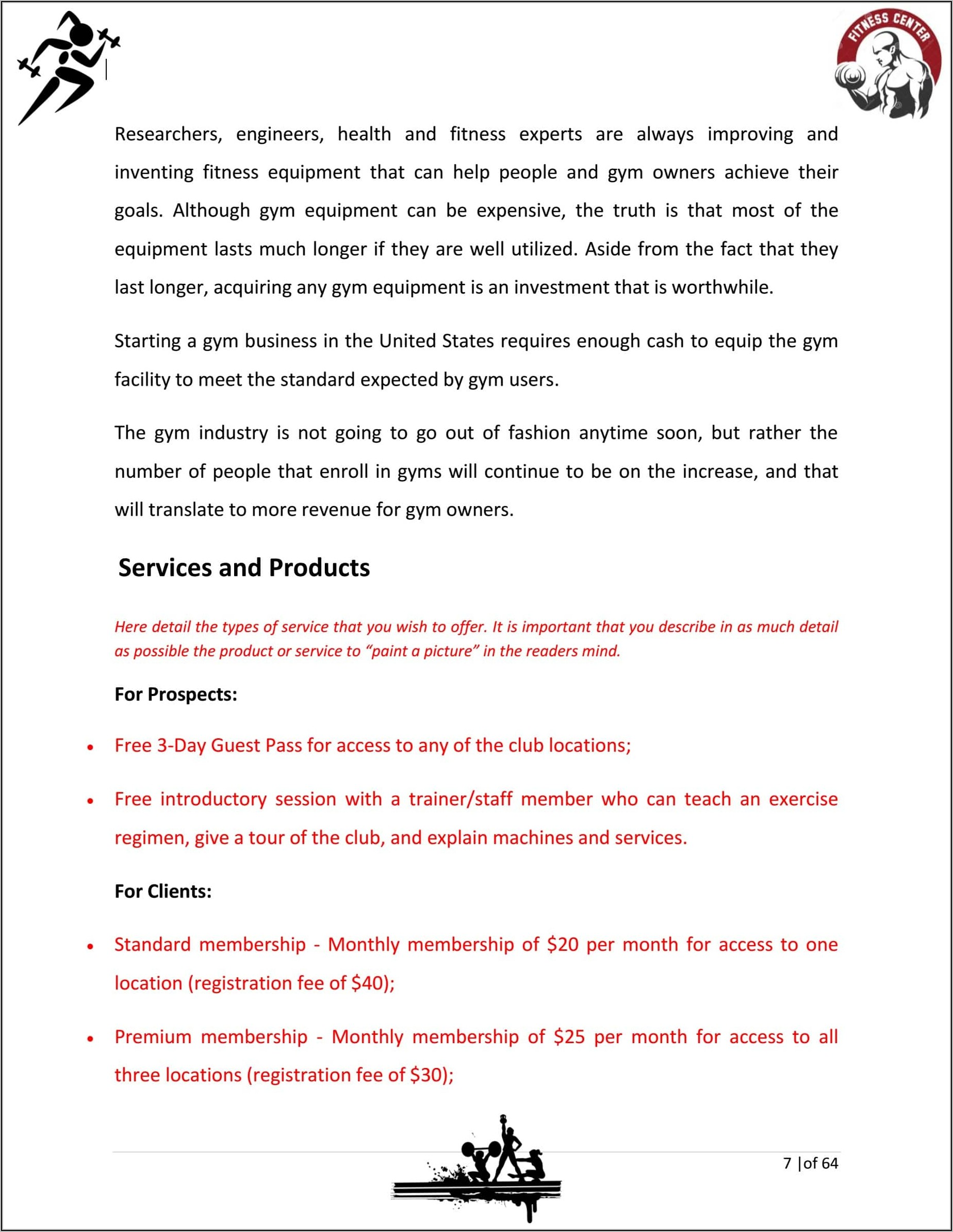 Fitness Business Proposal Template